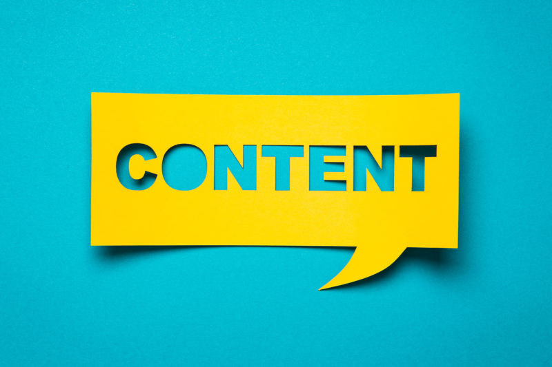 content marketing word bubble