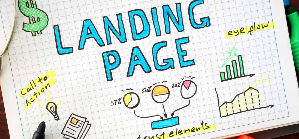 website landing page info graphic