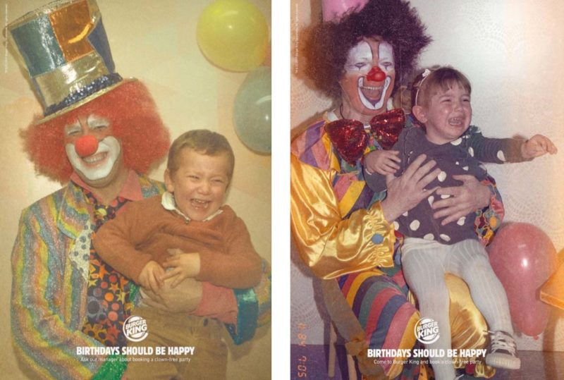 burger king clown ads