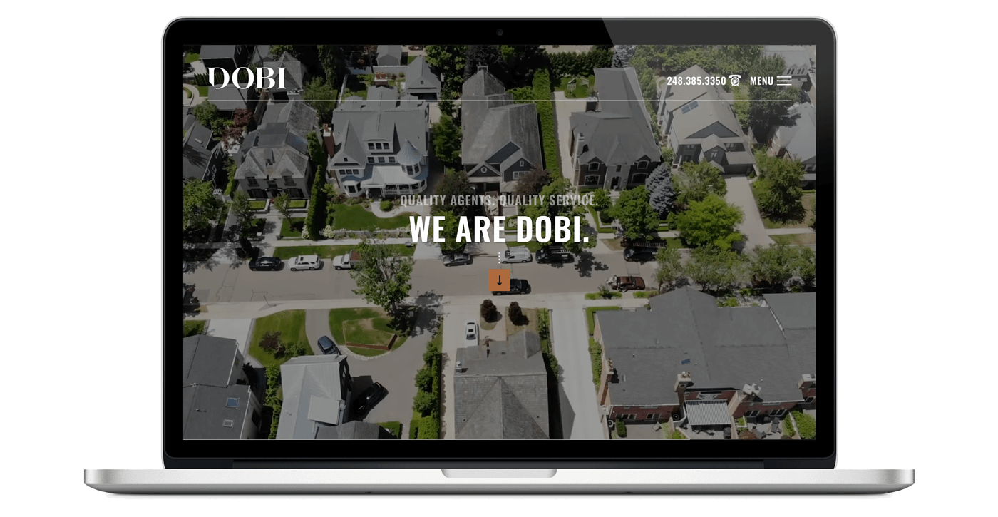 dobi real estate website homepage