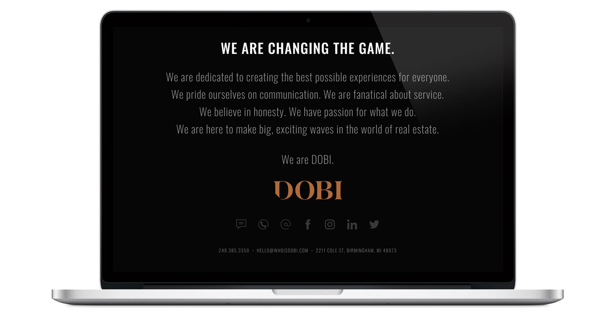 dobi real estate landing page