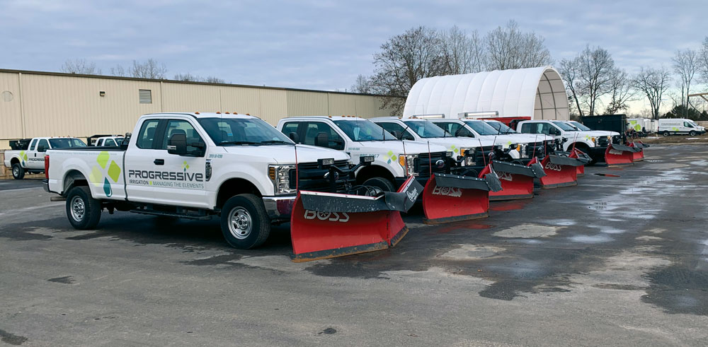 new progressive snow removal trucks