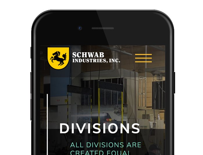 schwab industries website on mobile