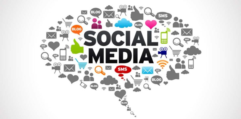social media marketing icon cloud