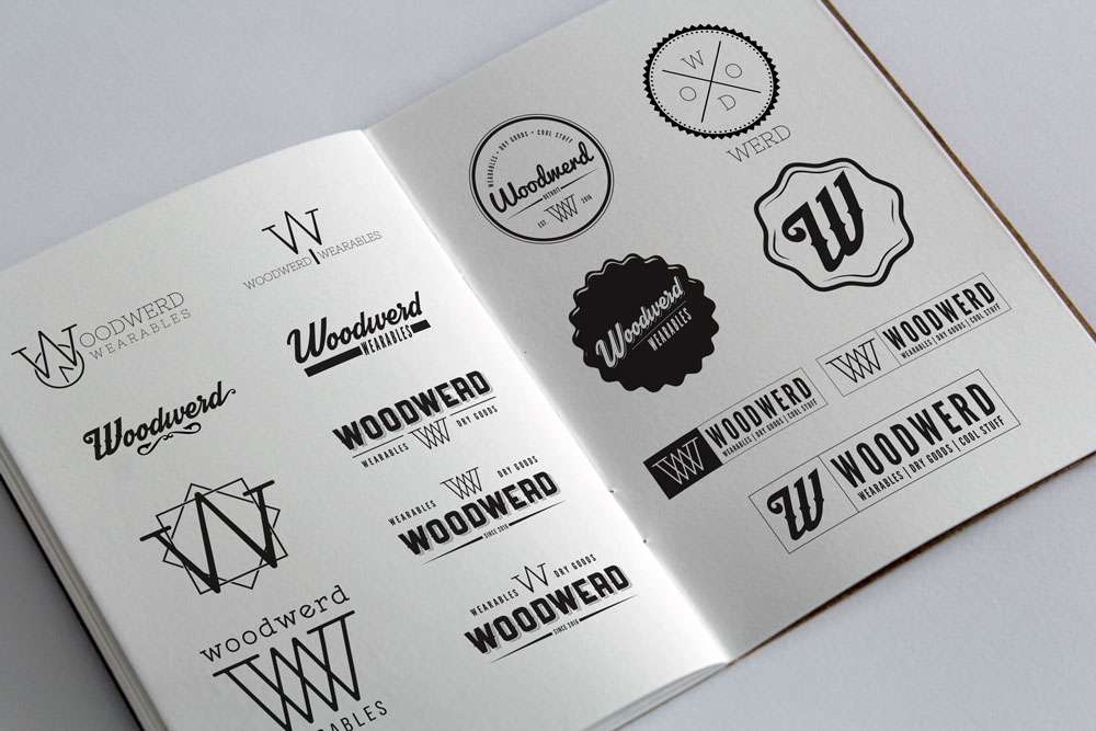 logo concepts for woodwerds