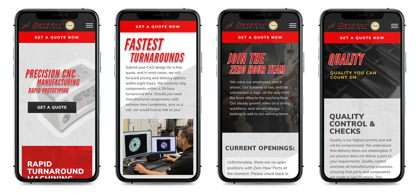 manufacturing company mobile website